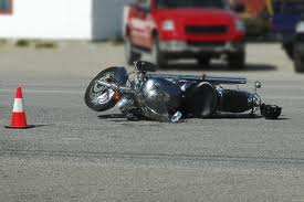 overturned motorcycle
